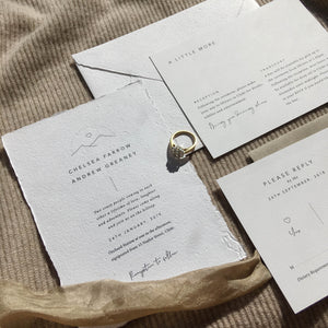 Wilderness Smitten With Love Wedding Stationery 2 Piece