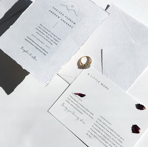 Smitten With Love Wedding Stationery, Wilderness Details Card Design on Via Felt
