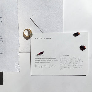 Smitten With Love Wedding Stationery, Wilderness Details Card Design