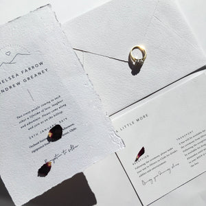 Smitten With Love Wedding Stationery, Wilderness invitation and details card design