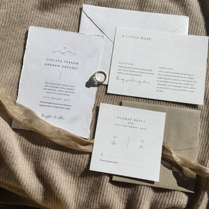 Smitten With Love, Wilderness Wedding Stationery Flat Lay