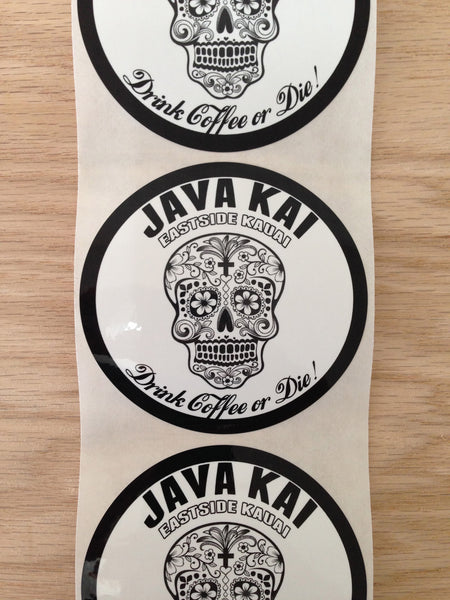 JK SKULL STICKER