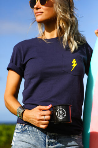 Kai Bar Roasters Lightning Pocket Tee /// Unisex