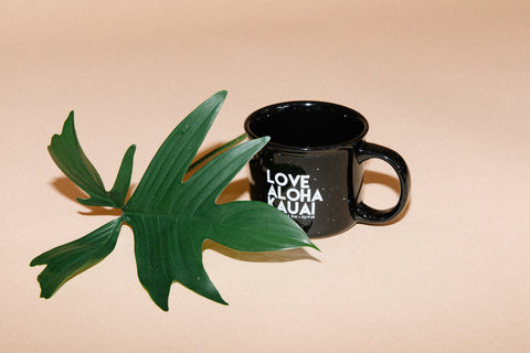 Love Aloha Kauai // Camp Mug // Black