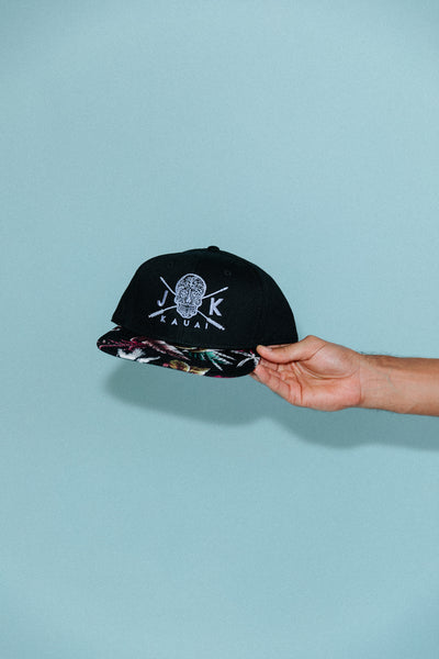 Floral Arrow Skull // Snap-back