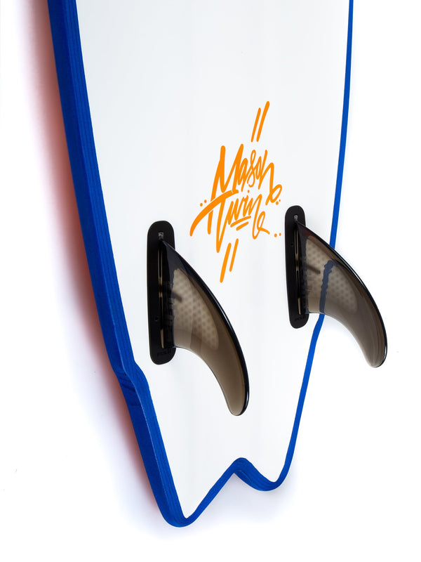Softech Mason Ho Twin Fin Orange Fins