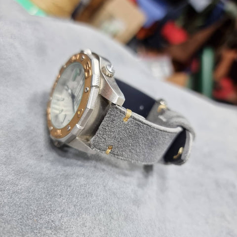 Suede leather strap