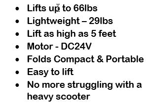 Enhance Mobility Lift Kit Specifications