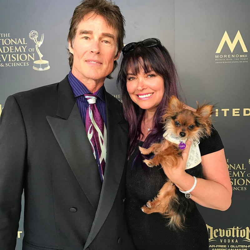 Dog harness by Lutii at the Emmy's!