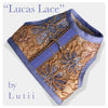 """Lucas Lace""-handmade adjustable lace dog harness - small dog harness, best pet harness, best non pull harness, designer dog harness, lace dog harness, lace pet carrier, best travel pet carrier, small dog carrier, small dog carrier by Lutii pet design, high end pet carriers, best small dog clothing, pet clothing."
