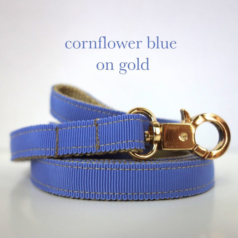 Cornflower Blue - Matching Lutii ribbon leash - small dog harness, best pet harness, best non pull harness, designer dog harness, lace dog harness, lace pet carrier, best travel pet carrier, small dog carrier, small dog carrier by Lutii pet design, high end pet carriers, best small dog clothing, pet clothing.
