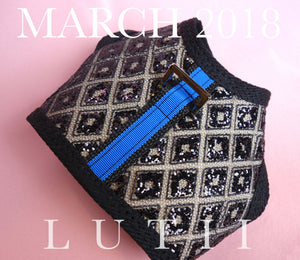 "small dog harness adjustable best dog vest harness chihuahua maltese yorkie puppy collar no pull harness designer ""Black Diamonds"" by Lutii."