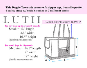 """Pink Poppies""-Dog carrier, airy, non-overheating, lightweight pink tote. - small dog harness, small dog carrier by Lutii pet design"