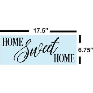 Sign Painting, Home Sweet Home STENCIL for Sign Making, Sturdy & Reusable