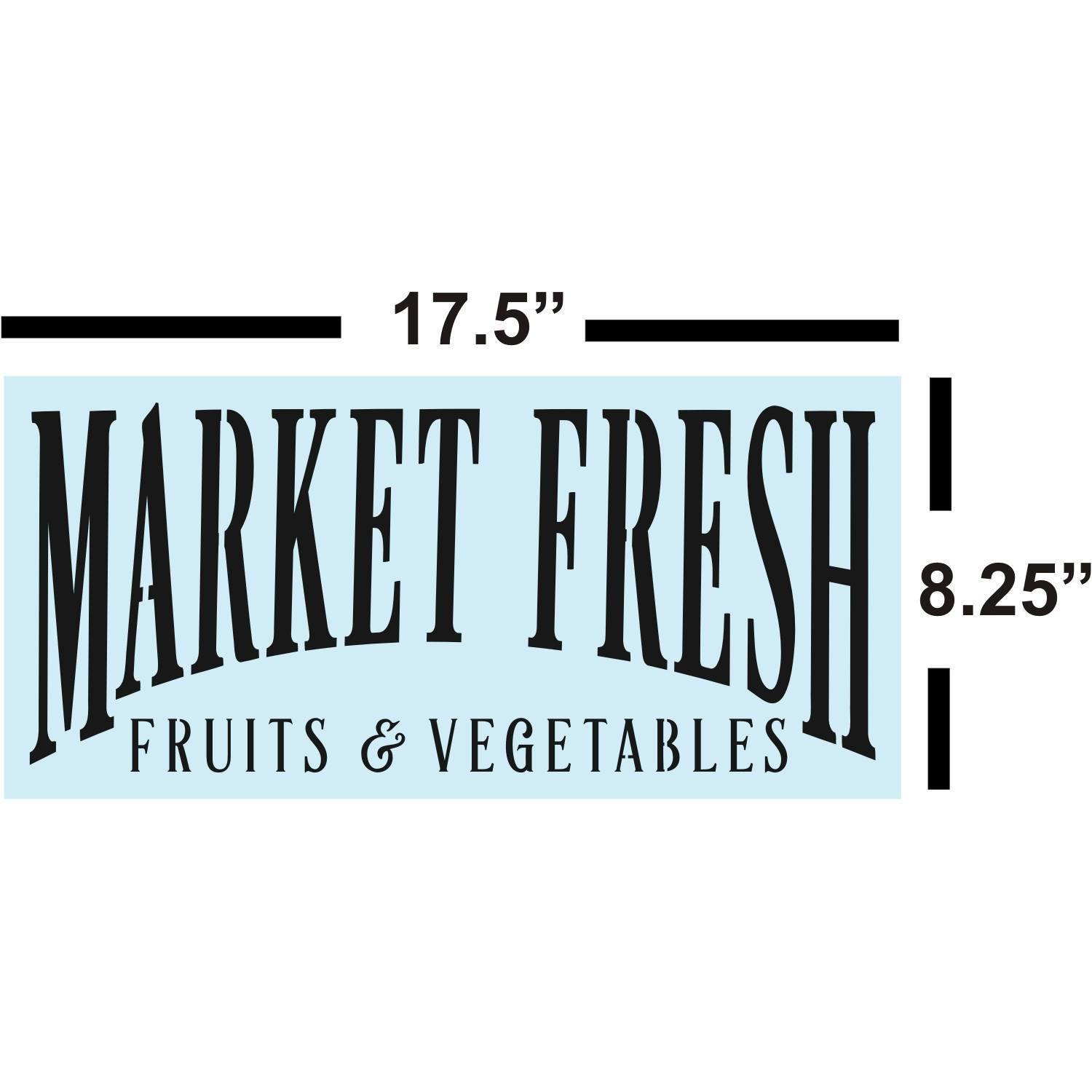 Sign Painting, Farmhouse Market Fresh STENCIL for Sign Making, Sturdy & Reusable