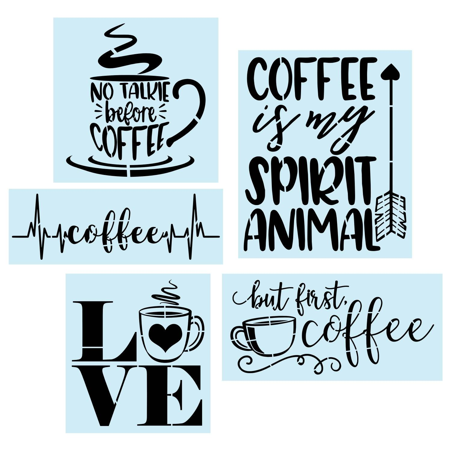 Sign Stencil, Coffee Bar Bundle, Painting Stencil, 14 Mil Reusable