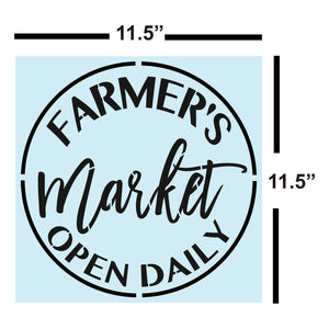 Sign Painting, Farmers Market Open Daily STENCIL for Sign Making, Sturdy & Reusable