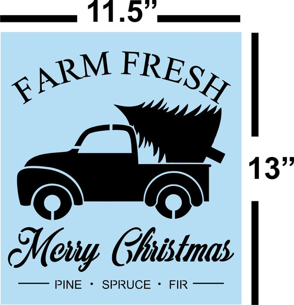 Christmas Truck Stencil - Paint Your Own Sign,Vintage Red Truck - Reusable Plastic Stencil