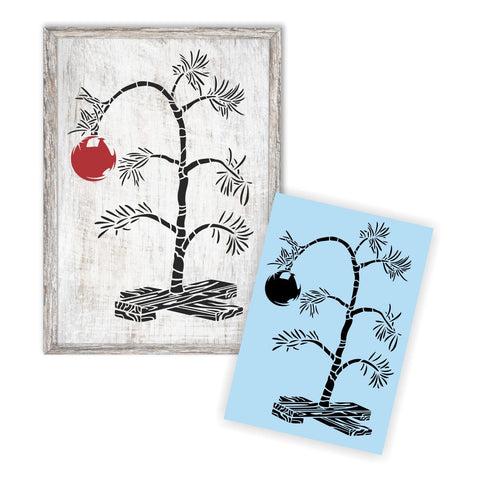 Charlie Brown Christmas Tree - Reusable Stencil For Wood Sign - Large Tree Stencil