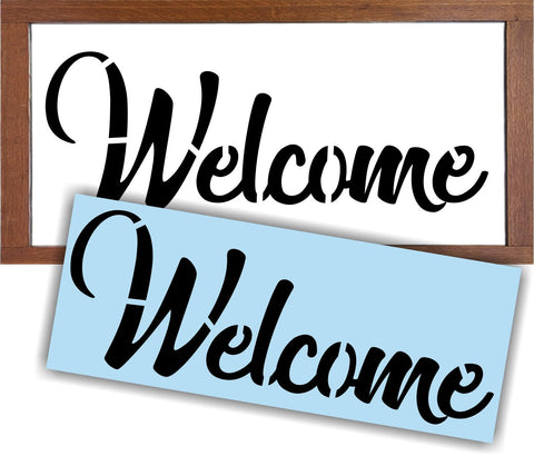 Sign Painting, Welcome, Stencil for Wood, Reusable,