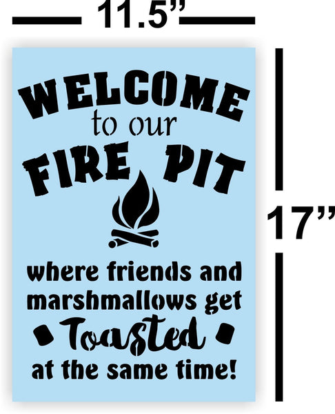 Fire Pit Stencil for Wood Signs - Reusable - Backyard Signs