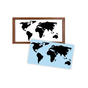 World Map Stencil - Reusable Stencil For Wood Sign - Reuse