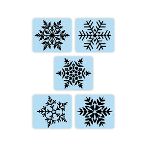 5 Snowflake Stencils Super Bundle - Paint Your Own Wood Sign - Reusable