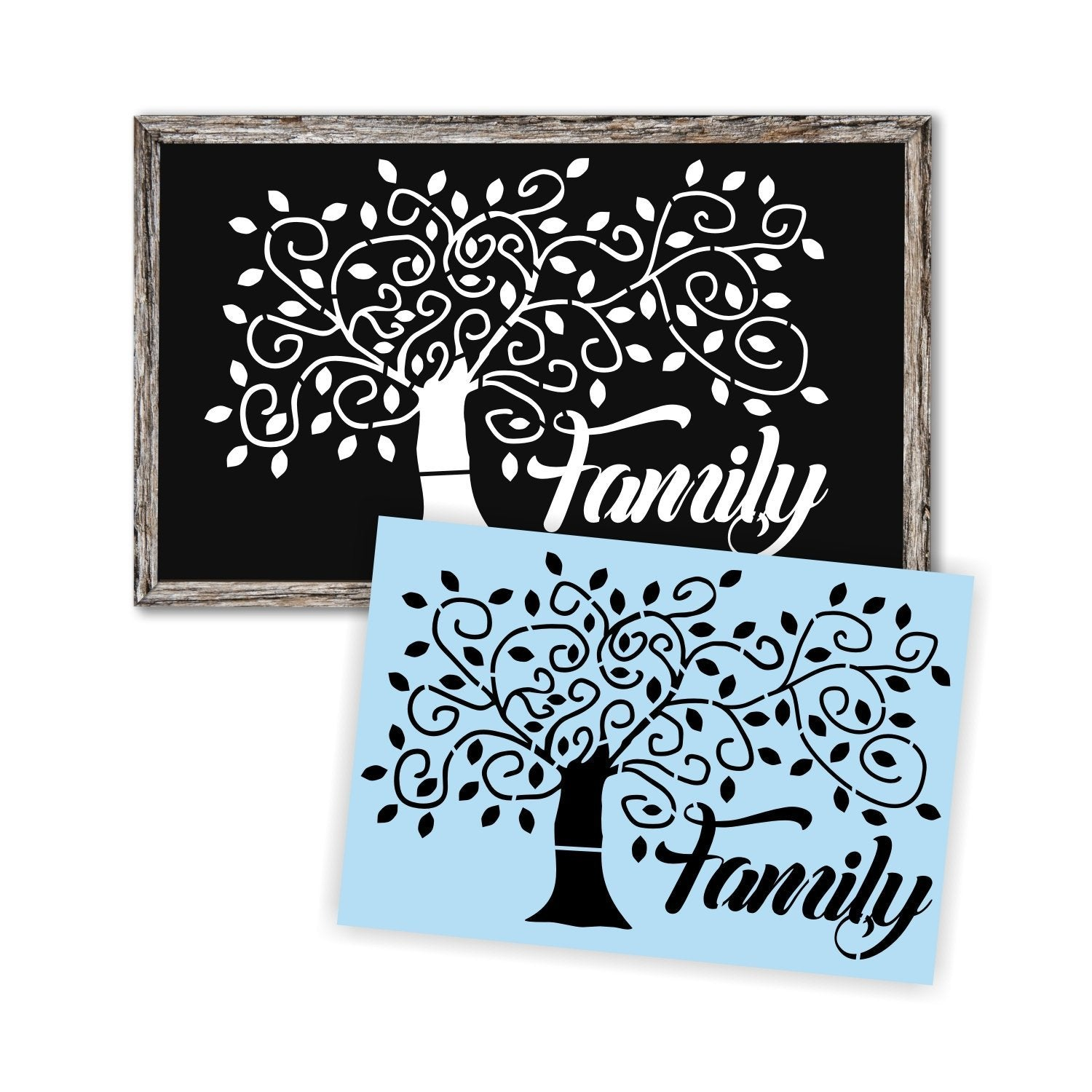 Stencil,  Family Tree, Sign Painting, Sturdy & Reusable
