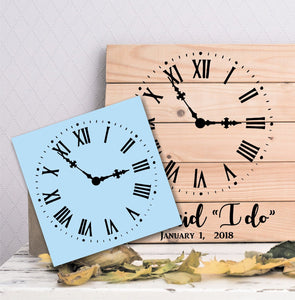 Roman Numerals Clock Face Stencil, Sign Making, Paint Your Own Sign