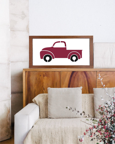 Vintage Red Truck STENCIL, Sign Painting, Reusable