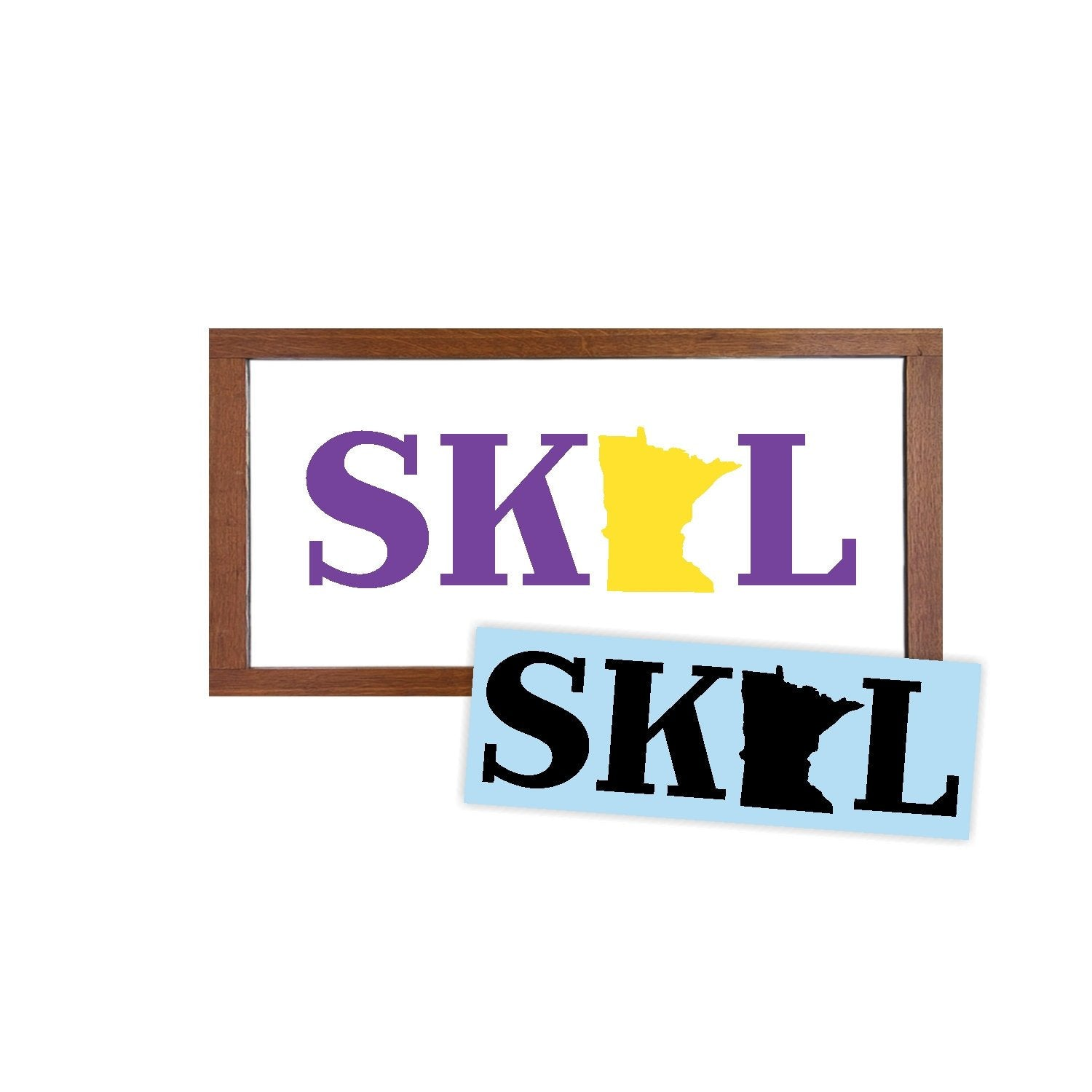 Skol Minnesota Vikings Stencil - Paint Your Own Sign - Reusable Plastic Stencil