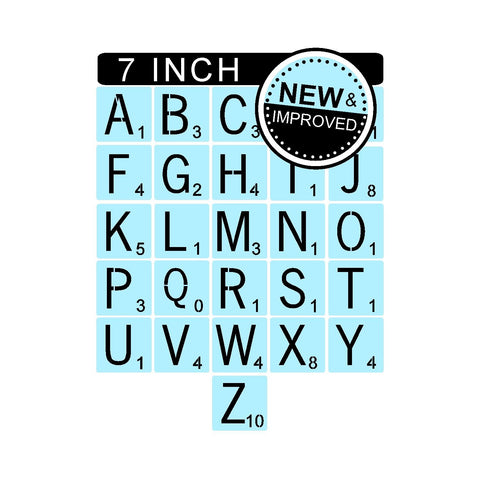 Scrabble Letters Stencil Kit - 7 Inch Tile Stencil - Reusable - Paint Your Own Sign