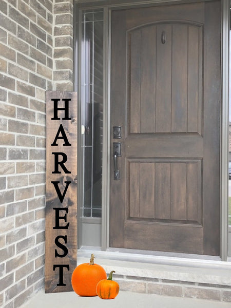 Fall Harvest Stencil - Paint Your Own Porch Sign - Reusable Plastic Stencil