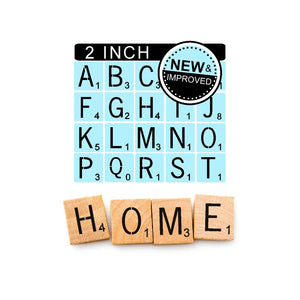 Scrabble Stencils Kit - Reusable - 2 Inch Scrabble Tiles Stencil - Sign Painting