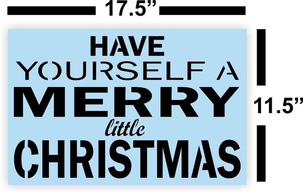Have Yourself A Merry Little Christmas Stencil For Wood Sign - Reuseable Stencil