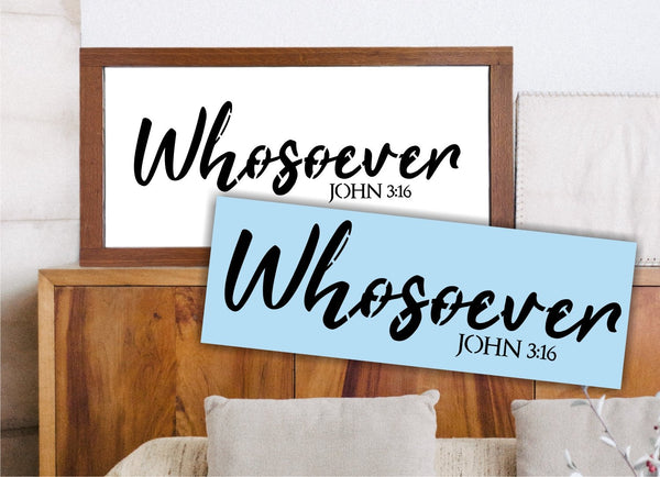 Whosoever John 3:16  Stencil For Wood Sign - Reuseable Stencil