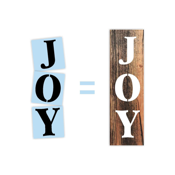 Joy Christmas Stencil For Wood Sign - Reuseable Stencil