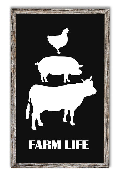 Cow Pig Rooster Stack Stencil Bundle For Wood Sign - Reuseable Stencil