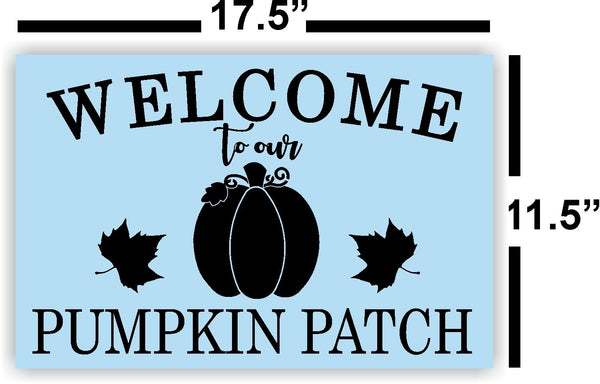 Welcome to our Pumpkin Patch Stencil For Wood Sign - Reuseable Stencil