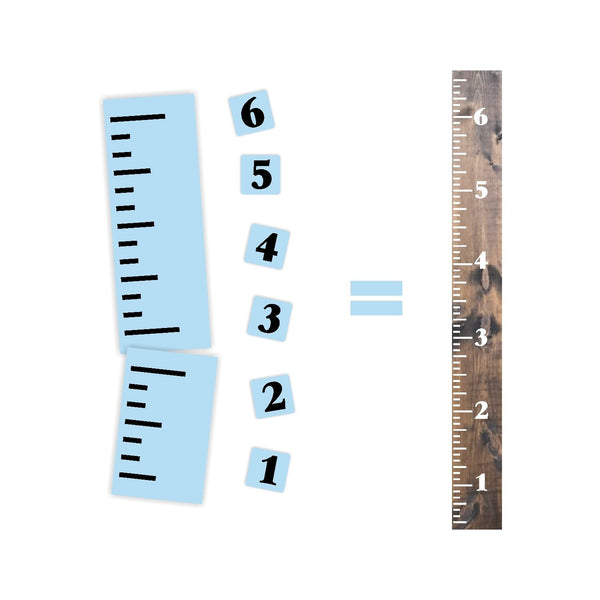 Growth Chart Stencil Kit, Reusable, Ruler Stencil, Paint Your Own Wooden Sign
