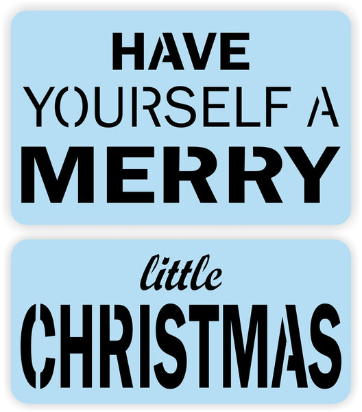 "Have Yourself A Merry Little Christmas Stencil - 17.5"" Square - Reusable - Paint Your Own Sign"