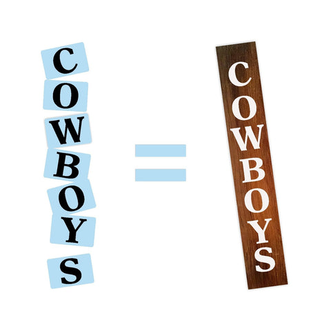 Cowboys Porch Stencil - Reusable - Paint Your Own Sign - Reusable Plastic Stencil
