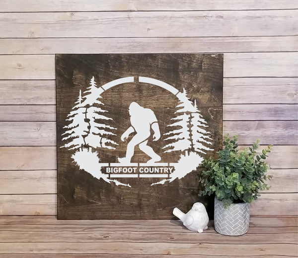 Bigfoot Country Stencil, Reusable, Paint Your Own Wood Sign