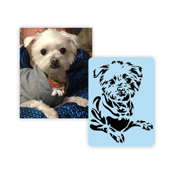 Custom Pet Stencil, Reusable & Thick, Paint Your Pet, Animal Portraits