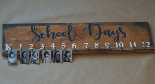 School Days Stencil Bundle - Paint Your Own Wood Sign - Reuseable Stencil Kit - School Grade Photos and Pictures