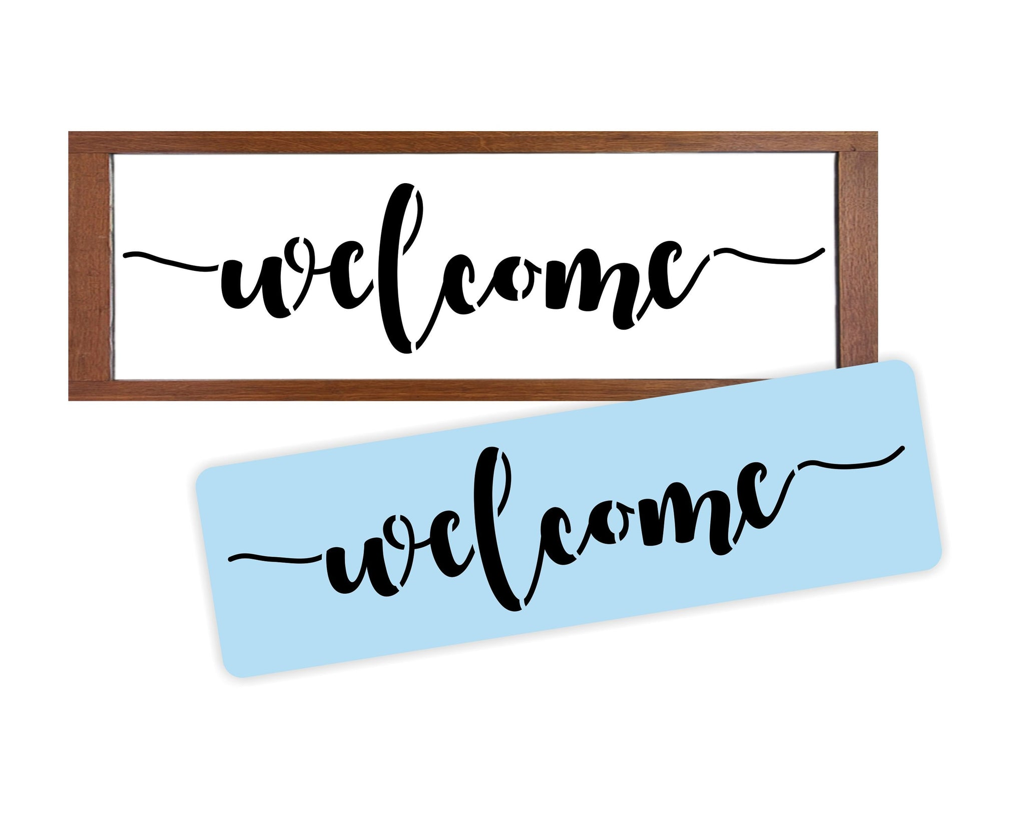 Welcome Stencil, Reusable, Paint Your Own Wood Sign, Wedding Welcome Sign