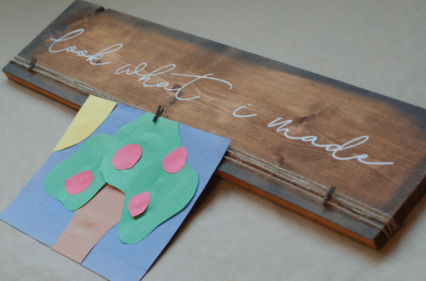 Look What I Made Stencil Bundle - Paint Your Own Wood Sign - Reuseable Stencil Kit - Kid Art Display