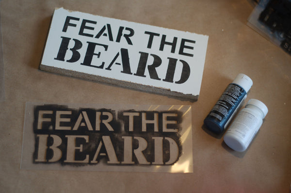 Beard Super Stencil Bundle For Wood Signs - Reuseable Stencils - Man Cave Signs