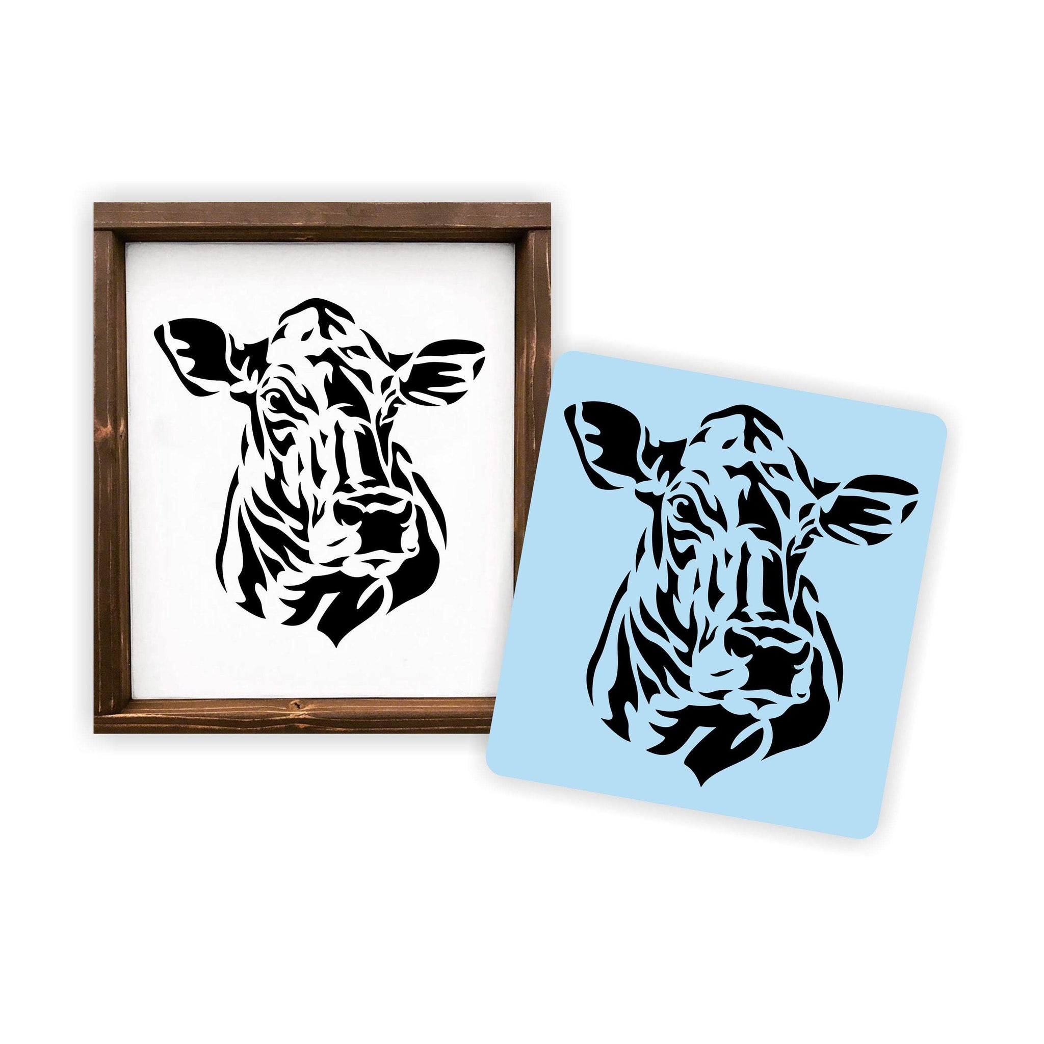 Swiss Cow Stencil, Reusable, Paint Your Own Wood Sign