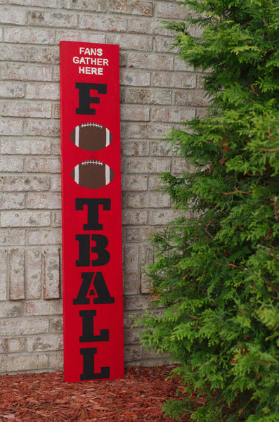 Football Porch Stencil For Wood Sign - Reuseable Stencil - Vertical